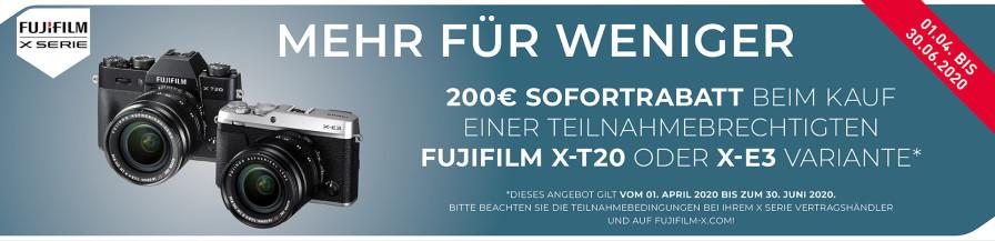 Fujifilm X-T20 / X-T3 Sofortrabatt