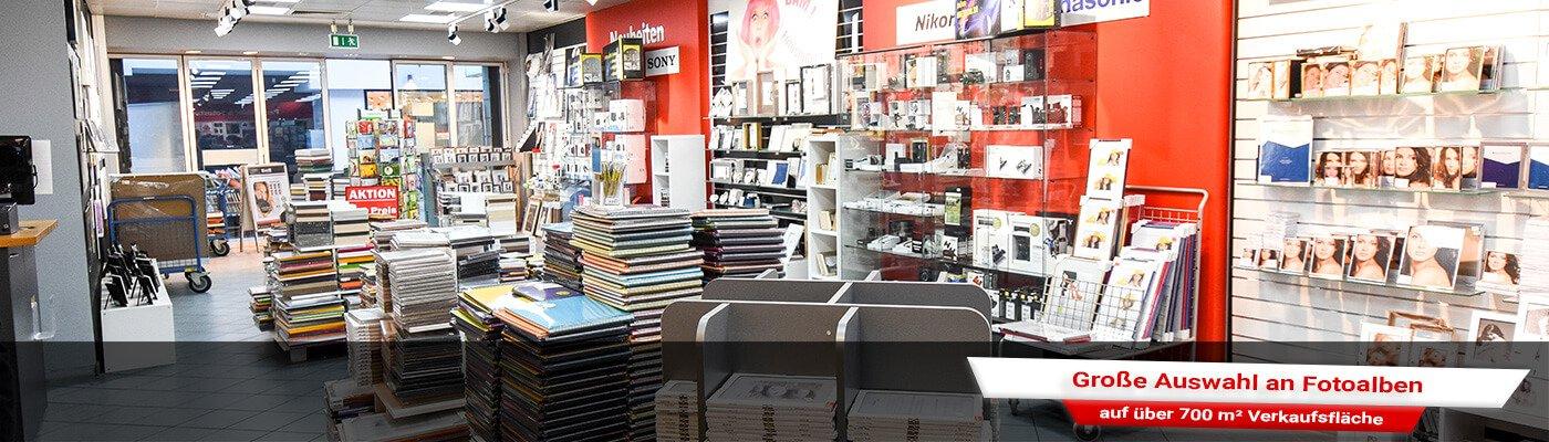 Riesen Auswahl an Fotoalben in der Filiale Wiesbaden