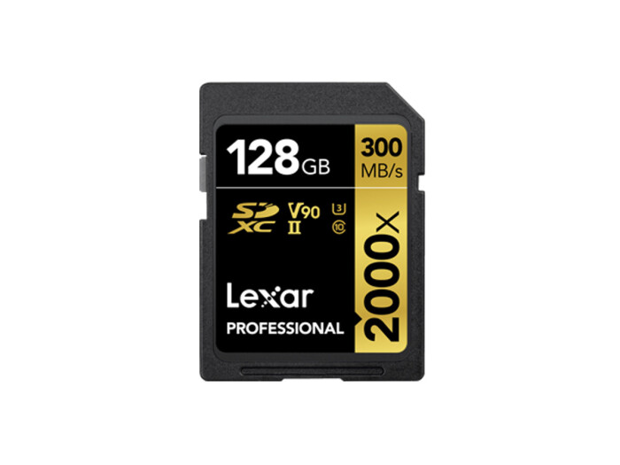 Lexar 2000x SDHC 128GB, C10, U3, V90, Professional