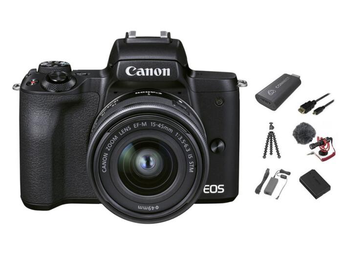 Canon EOS M50 II Schwarz Live Stream Kit 15-45 IS STM