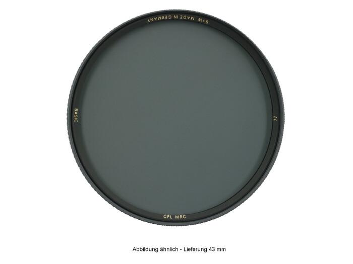 B+W BASIC Zirkular Polfilter MRC 43 mm