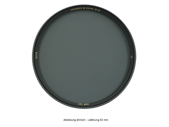 B+W BASIC Zirkular Polfilter MRC 62 mm