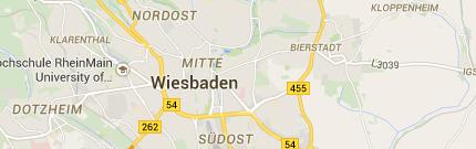 Karte von Wiesbaden